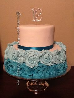 Coolest Flower 18th Birthday Cake... This website is the Pinterest of birthday cake ideas