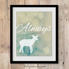 Snape's Patronus - After all this time? Always - Harry Potter art print - Snape - Lily - Love - JK Rowling - Literature Quotes - Books on Etsy, $10.00