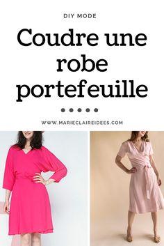 Coudre une robe portefeuille / diy mode / tendance mode été 2017 / patron de couture robe portefeuille