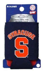 "SYRACUSE ORANGE NCAA CAN KADDY KOOZIE COOZIE COOLER by Kolder. $4.99. PRODUCT DESCRIPTION: Kolder Kaddy TM - Kolder's collapsible can insulator is made from 3 mm neoprene ""wetsuit"" rubber. The Kolder Kaddy fits 12-ounce cans, folds flat to fit in pockets or purses, and is a great beverage insulator to have with you when attending a concert or sporting event. *Fits both cans & bottles *MSRP $5.99"