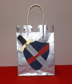Knight Castle Medieval Favor Bag by bgallant69 on Etsy, $4.95