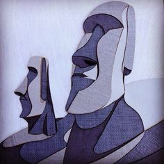 Moai statues frame a gift design. Collage of different shades of gray fabrics. #sarapishehdesign #graphicdesign #sign #signage #giftidea #sfgraphicdesigner #SFgraphicdesign #fabriccollage #Easterisland  #wallart #branding #gift #branding #logo #plaques #design #throphy #lasercut #design #moai #moaistatues #weddingdecoration #moaistatue #californiaeventplaner #weddingsign #sofreaghd #lasercutting #weddinginvitations #bridalshower #fabric #stonetexture by sarapishehdesign