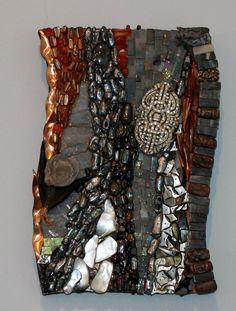 Ariel Shoemaker mosaic interpretation of a Paul Strand Photograph.