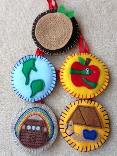 Wow, these are beautiful felt Jesse Tree ornaments!