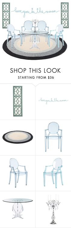 Minimalist Dining Room by farrahdyna on Polyvore featuring interior, interiors, interior design, дом, home decor, interior decorating, Natural Life, Pier 1 Imports, Cyan Design and Kartell