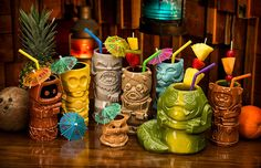 No matter whether you're cruising the desert in style on Jabba's sail barge, sitting alone in an intergalactic cantina bar, or just attending a weird backyard luau full of Star Wars cosplayers back on Earth, these cool new Star Wars Geeki Tikis are perfect for serving up tropical cocktails