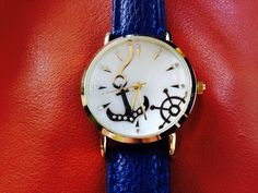 Cute nautical watch with blue band