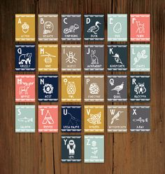 Woodland Alphabet Wall Cards. $38.00, via Etsy.