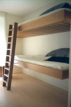 Cantilevered Bunk Beds for Small Spaces