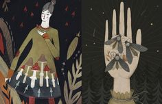 Alexandra Dvornikova cria ilustrações incríveis que mais parecem ter saído de livros sobre mundos fantásticos, retratando mulheres e elementos místicos.