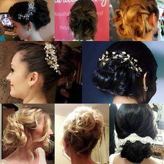 peinados recogidos  novias reales