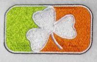 Irish Logo Embroidery Design. Ireland Flag.