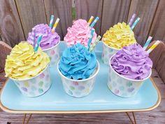 Cupcake Candle, Cupcake Gift, Cupcake Soap, Fake Cupcakes, Fake Cake, Baking Cupcakes, Candy Christmas Decorations, Christmas Candy, Christmas Ornaments