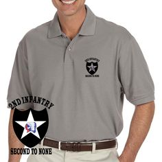 Grab a unique US Army 2nd Infantry Division Second To None Grey Performance Polo Shirt today. These good looking polos will keep you cool as they are performance wicking, stain-resistant & offer UV Protection. Designed, Printed & Sublimated in the USA -Fabric Imported.