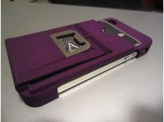 Check out the new color Purple!  Ultimate Minimalistic Case with bottle opener by Amznfx on Shapeways