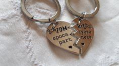 Zombie Apocalypse Partners Couples Best Friends Present Key Chain