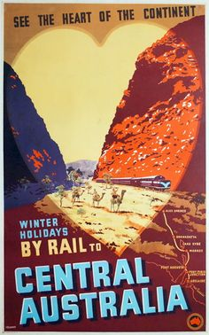 Central Australia Travel Poster - The Red Centre