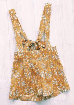 Handmade Liberty Print Floral Suspender Shorts | HandmadeClothingLTD on Etsy