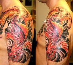 Japanese Dragon Koi Tattoo | Added: Apr 2, 2012 | Image size: 500x446px | Source: tattoomoscow.ru