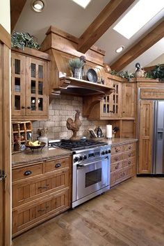 30 Most Popular Rustic Kitchen Ideas You'll Want to Copy Rustic Kitchen Ideas - Do you wish to run away the busy city life? This post includes 30 countrified kitchen layouts that add a stunning rustic style to your kitchen . Rustic Kitchen Cabinets, Rustic Kitchen Design, Best Kitchen Designs, Farmhouse Style Kitchen, Painting Kitchen Cabinets, Kitchen Redo, Interior Design Kitchen, New Kitchen, Kitchen Remodel
