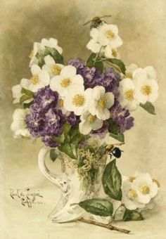 Apple Blossoms and Violets Cross stitch pattern pdf by diana70, $6.50