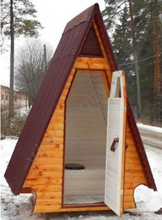 Country toilet type Hut do it yourself: device, materials