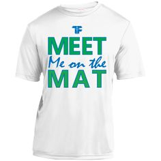 MEET ME ON THE MAT- Youth Moisture-Wicking Wrestling Shirt