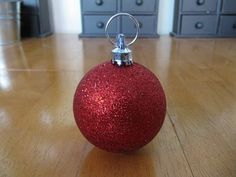 Directions for how to make christmas ball place holders