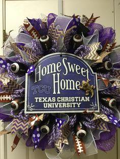 TCU horned frogs by Twentycoats Wreath Creations