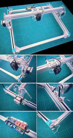 5500mW A3 30x40cm Desktop DIY Violet Laser Engraver Picture CNC Printer Assembling Kits Sale - Banggood.com