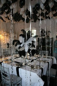 Ober, Onet & Associates: Truman Capote Black and White Themed Party