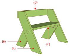Woodworking Bench Leopold Bench Plans - Easy DIY Project - - Quick and easy DIY project for an outdoor bench. Leopold bench plans include illustrations, measurements, and shopping list. Wood Bench Plans, Woodworking Bench Plans, Cool Woodworking Projects, Learn Woodworking, Popular Woodworking, Diy Wood Projects, Woodworking Machinery, Youtube Woodworking, Woodworking Classes