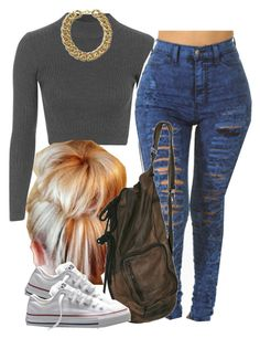 """""""Thank yall !!!!!  Read D"""" by trillest-queen ❤ liked on Polyvore featuring Topshop and Converse"""