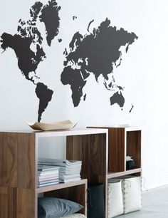 Walls need love world map wall decal pinterest wall decals world map wall sticker ferm living gumiabroncs Images