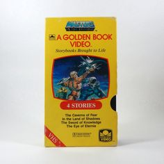 He Man VHS Cartoon MOTU 1985 Golden Book Video by TheJunkinSailor