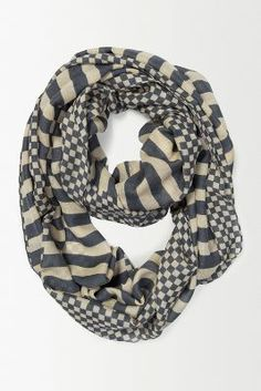 Anthro Checkerboard Infinity Scarf