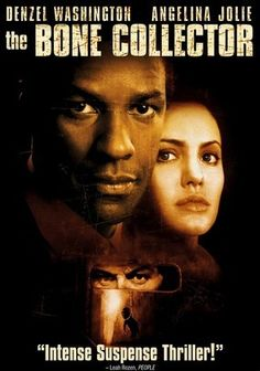 The Bone Collector (1999) Rookie cop Amelia Donaghy (Angelina Jolie) reluctantly teams with Lincoln Rhyme (Denzel Washington) -- formerly the department's top homicide detective but now paralyzed as a result of a spinal injury -- to catch a grisly serial killer dubbed The Bone Collector. The murderer's special signature is to leave tantalizing clues based on the grim remains of his crimes. Director Phillip Noyce filmed this thriller on location in New York and Montreal.