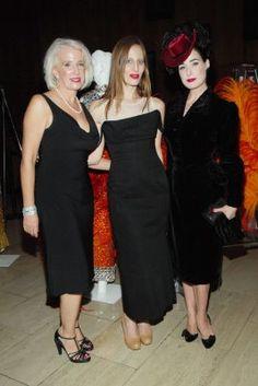 Barbara Segal, Liz Goldwynn, and Dita Von Teese   Photo Credit Patrick McMullan West Coast