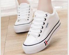 L YC Mujeres Zapatos Planos EN Primavera Aumento de Ocio Zapatillas de Deporte Lacing Student Flat EN Little White Zapatos Negro Blanco, Black, 35