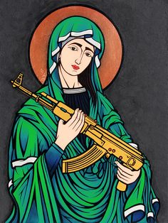 Rifle Mary [Madonna Kalashnikov by Chris Shaw, 2012]