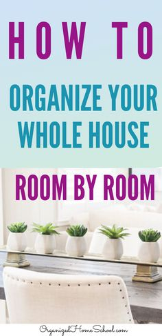 Need some organizing ideas for your whole house? Learn how to organize your house room by room from professional veteran organizers right here. Study Desk Organization, Towel Organization, Planner Organization, Organizing Ideas, Financial Organization, Garage Organization, Veterans Organizations, Chalkboard Markers, Organized Mom