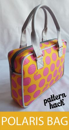 Pattern hack of the Sew Sweetness Polaris Bag.