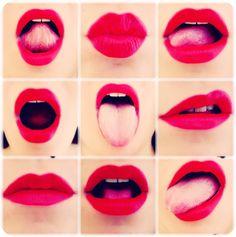 #mouth #lipstick #redlipstick #sexy #rossetto #red #rosso #lingua #tongue#bocca