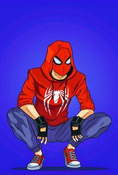 Spiderman Drawing, Spiderman Suits, Spiderman Movie, Amazing Spiderman, Spiderman Anime, Genos Wallpaper, Wallpaper Animé, Marvel Art, Marvel Heroes