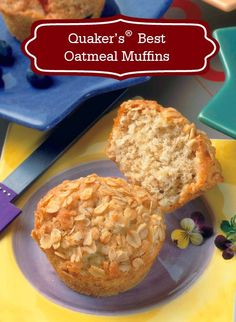 Quaker's® Best Oatmeal Muffin recipe is satisfying, slightly sweet, and the ideal on-the-go morning breakfast or afternoon snack! An extra perk? These delicious muffins are so fast and easy to make!