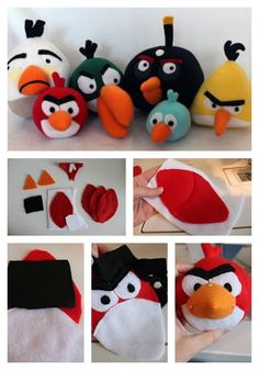 sewing stuffed animals 10 Adorable Stuffed Animals You Can DIY - Fill your home with these cuddly felt critters, or give them as gifts to your favorite kids. Angry Birds Party, Bird Party, Sewing Stuffed Animals, Cute Stuffed Animals, Adorable Animals, Felt Diy, Felt Crafts, Diy Crafts, Sewing Crafts