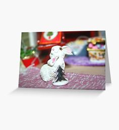 White Rabbit Christmas  Greeting Card Snowy Forest, Snowy Trees, Christmas Greeting Cards, Christmas Greetings, Beard Winter, Christmas Art, Christmas Wreaths, Winter Fairy, Winter Illustration
