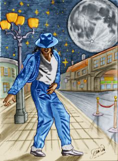 The most famous dance move the Prince of Pop: Michael Jackson: The Moonwalker Coloured by me by the software: Recolored Original drawing belongs to the . Michael Jackson Live, Michael Jackson Drawings, Michael Jackson Neverland, Famous Dance Moves, Bob Marley Pictures, Black Art, Black And White, Royal Art, Jackson's Art