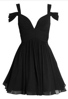 Off The Shoulder Prom Dress,Black Prom Dress,Mini Prom