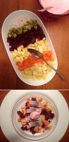 Suomalainen keittiö: Rosolli ( finnischer Weihnachtssalat )